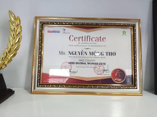 CEO của New Gem là bà Nguyễn Mộng Thơ - Hoa hậu Nhân ái toàn cầu tại Pháp năm 2018