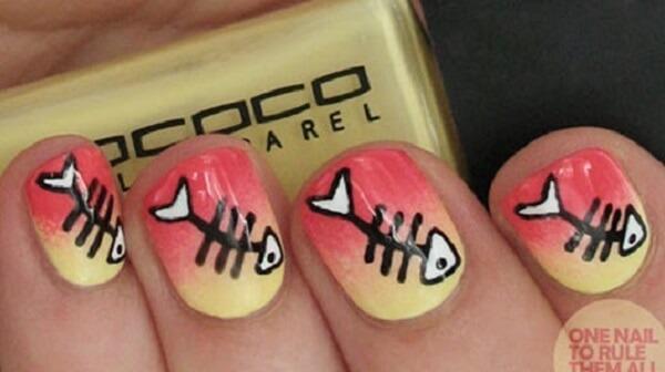 Cách vẽ nail hình lông mi cực thú vị