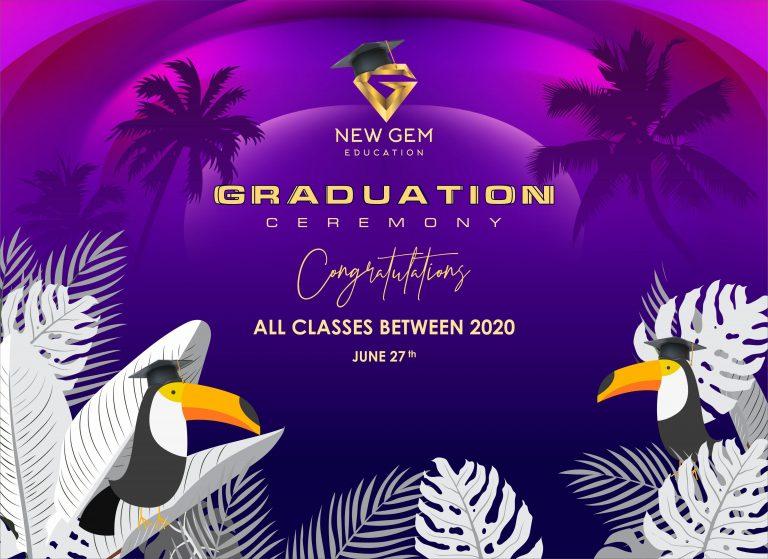Thông báo tổ chức thi tổng kết và lễ trao bằng tốt nghiệp khoá học tại Học Viên New Gem